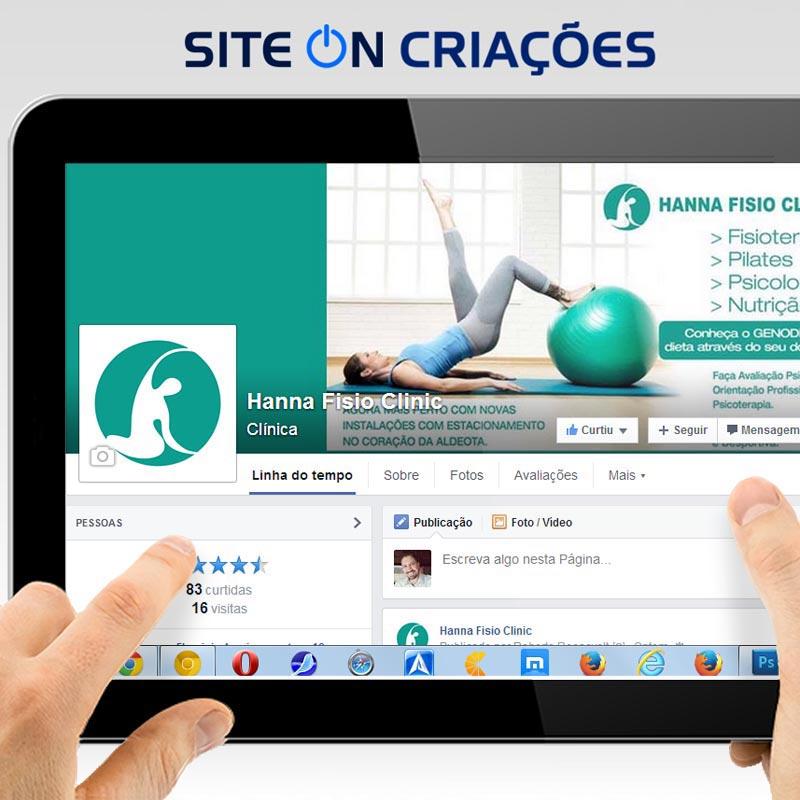 Hanna Fisio Clinic Mídias Sociais