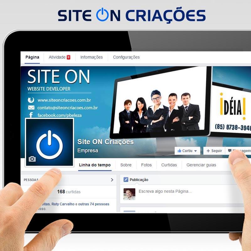 Site ON Criações Mídias Sociais