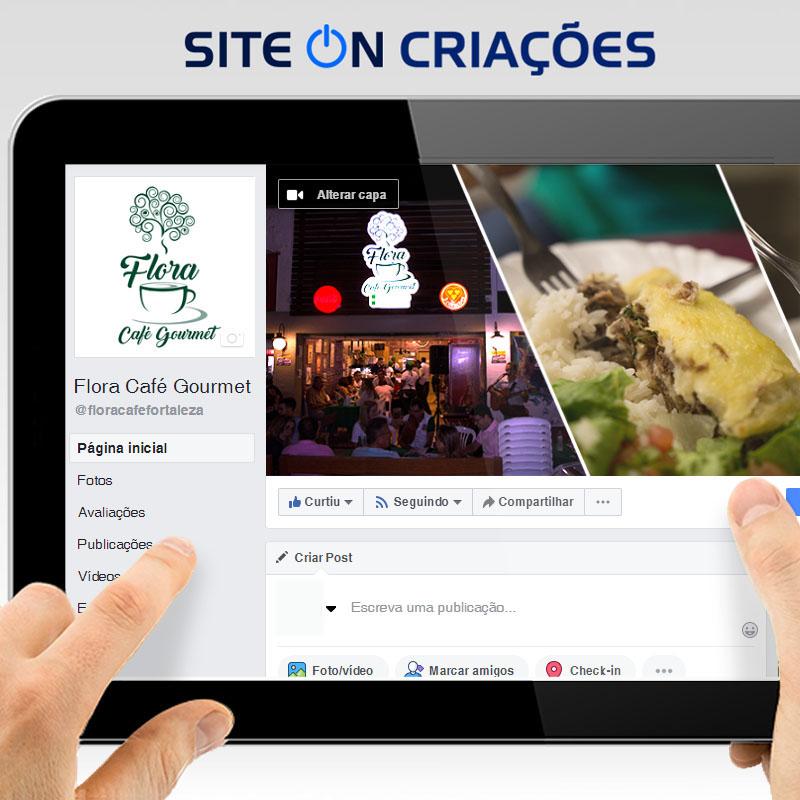 Flora Café Gourmet Mídias Sociais
